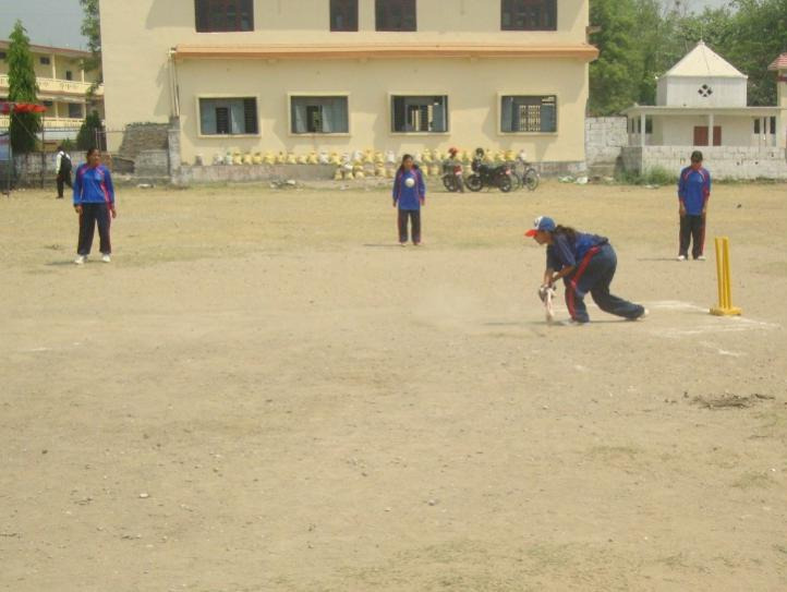 Lumbini team Captain Geeta Paudel batting  during seventh women tournament Butwal copy COVER