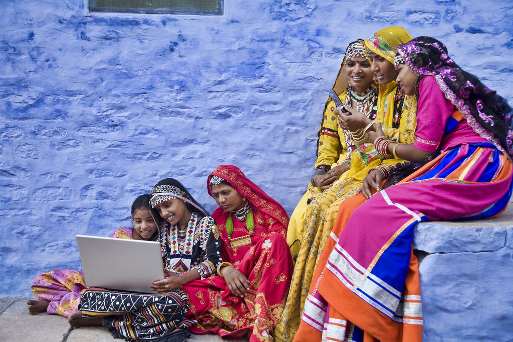 Women using laptops