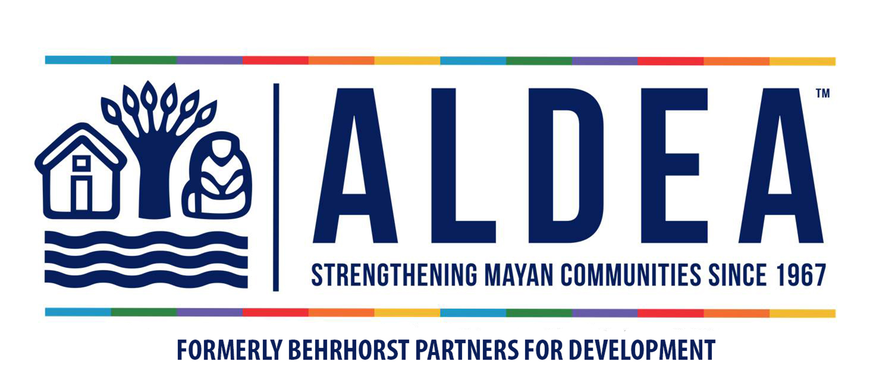 ALDEA Logo with formerly BLUE